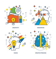 Creativity innovation vision creative process vector