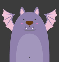 Cute big fat bat vector