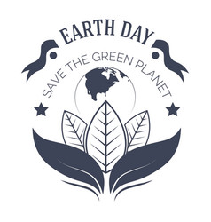 earth day ecology and environment isolated vector image