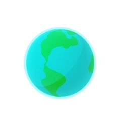 Earth icon in cartoon style vector image