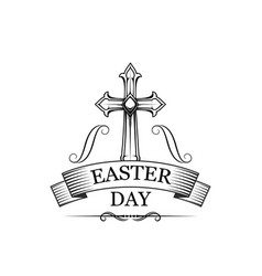 easter day holiday sign vector image