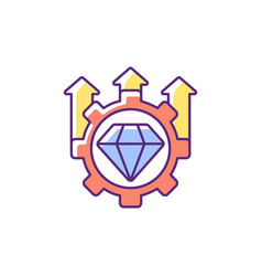 Excellence high standards rgb color icon vector