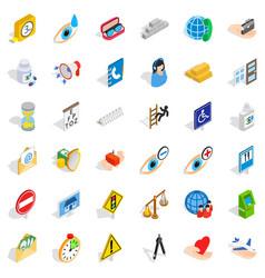 Eyedrop icons set isometric style vector
