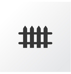 fence icon symbol premium quality isolated wooden vector image