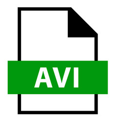 file name extension avi type vector image