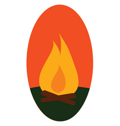fire hand drawn design on white background vector image