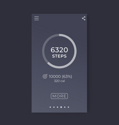 fitness app activity tracker mobile interface vector image