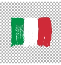 Flag of Italy on an empty background vector