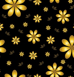 floral wallpaper with set of different flowers vector image