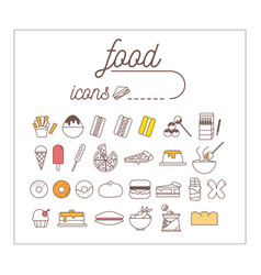 Food icon set infographic and design vector