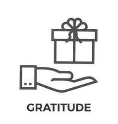 Gratitude thin line icon vector