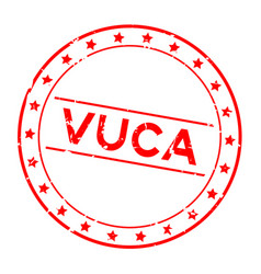 Grunge red vuca abbreviation volatility vector