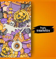 Halloween background holiday design elements vector