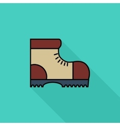 Hiking shoes vector image