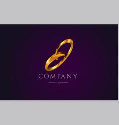 j gold golden alphabet letter logo icon design vector image