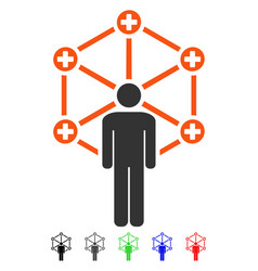 Medical network administrator flat icon vector