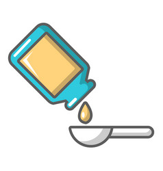 Medicine drops icon cartoon style vector
