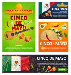mexican holiday card cinco de mayo fiesta party vector image