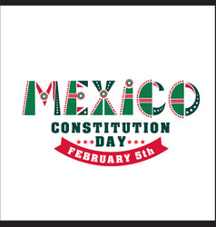 Mexico constitution day 5 vector