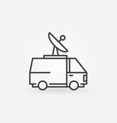News van icon vector