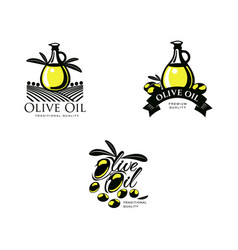 olive oil logo icon concept set isolated vector image