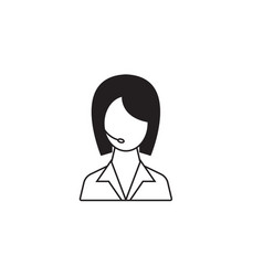 Online help line icon customer service vector