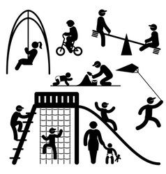 peoples playground icons vector image vector image