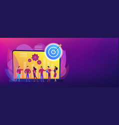 Performance management concept banner header vector