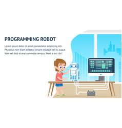 programming robot education math computer science vector image