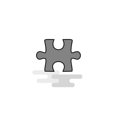 puzzle piece web icon flat line filled gray icon vector image