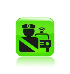 roadblock single icon vector image