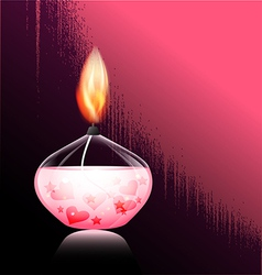 romantic candle vector image