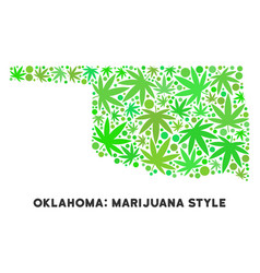 Royalty free marijuana leaves collage oklahoma vector