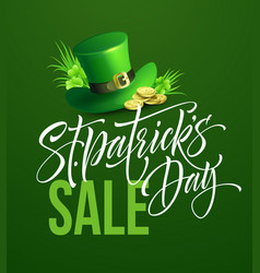 Saint patricks day sale poster lettering banner vector