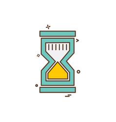 sand clock icon design vector image