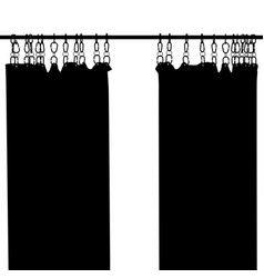 Shower curtain silhouette vector