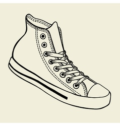 Sport shoes sketch vector image