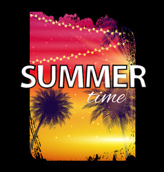 summer time beach poster tropical natural vector image