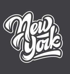 template with name state new york lettering vector image