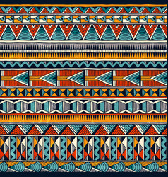 tribal african ornament in vibrant colours vector image