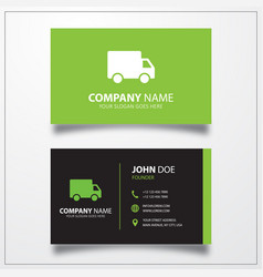 Truck delivery shipping icon business card vector