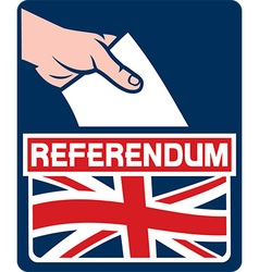 United Kingdom Referendum Poster vector image