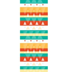 Vibrant ikat stripes vertical seamless pattern vector image