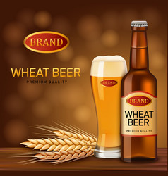 wheat beer concept background realistic style vector image