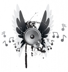 winged speakers vector image