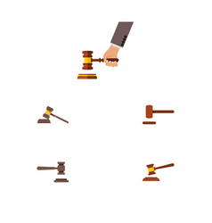 flat icon court set of court legal crime and vector image