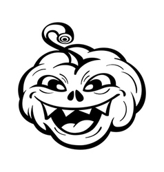 Funny pumpkin vector image