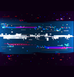 glitch color effect background digital noise vector image