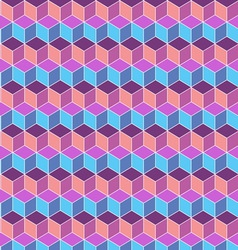 Seamless cube flat color background vector image