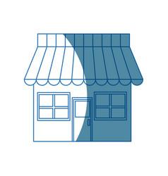 store market shop exterior window door vector image